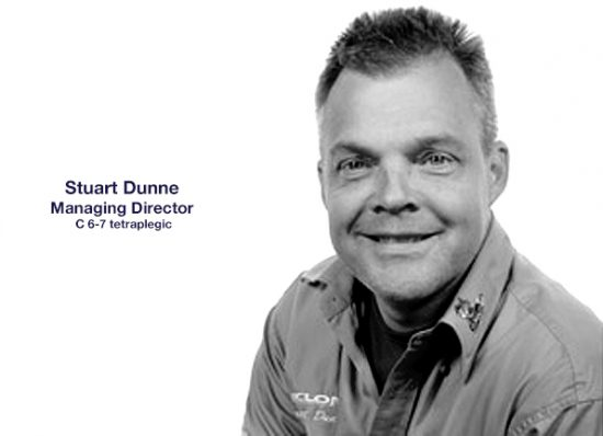 Cyclone Mobility MD Stuart Dunne, Stuart's story, Mobility equipment and rehabilitation equipment suppliers