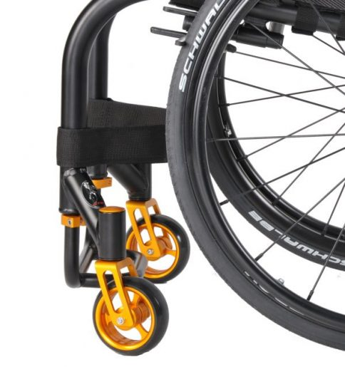 The GTM Hammer has an ultra-strong frame with strengthened seat base to accommodate the more generously built user. gtm-hammer-with-strengthened-frame-rear-wheelchair-view.jpg