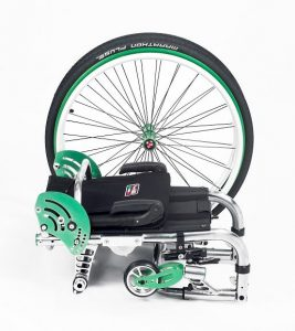 Offcarr EOS3 Ultra-lightweight and compact. The wheelchair has a hinged front titanium frame making it ultra-foldable
