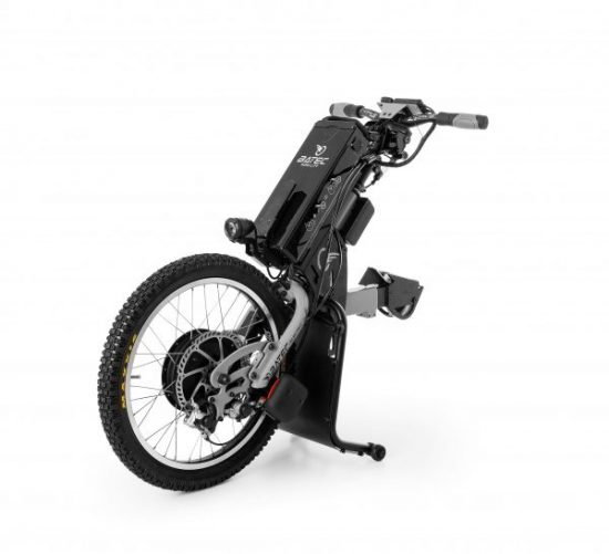 The Batec Electric is unique solution that will revolutionise your mobility outdoors. Simply attach the Batec to your wheelchair and you get that extra power boost whenever you need it.