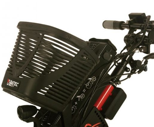 Add the Batec basket to the front of your Batec handbike or electric attachment, for easily accessible additional storage, ideal for your trips around town, or adventurous days out