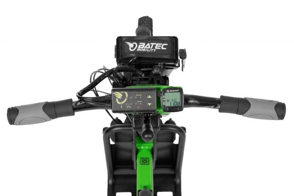 With a top speed of 30km/h and a choice of Kawasaki Green or Graphite Silver, the Batec Rapid is fast, fun and stands out from the crowd
