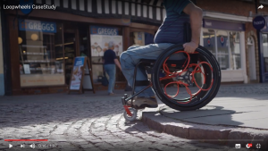 Loopwheels promotional video showing how wheels perform on uneven surfaces