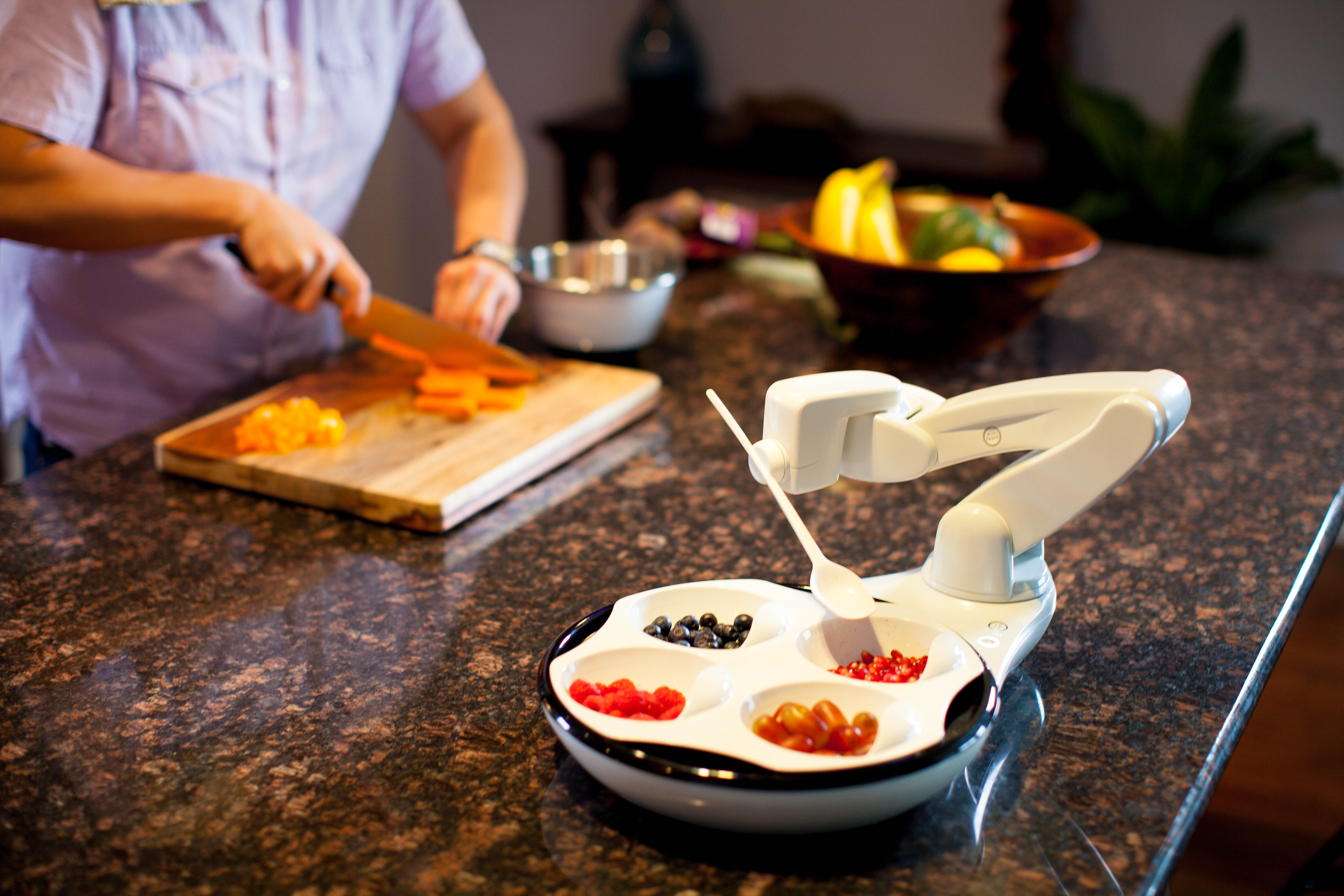 The Obi is a revolutionary, robotic feeding device that is simple to use