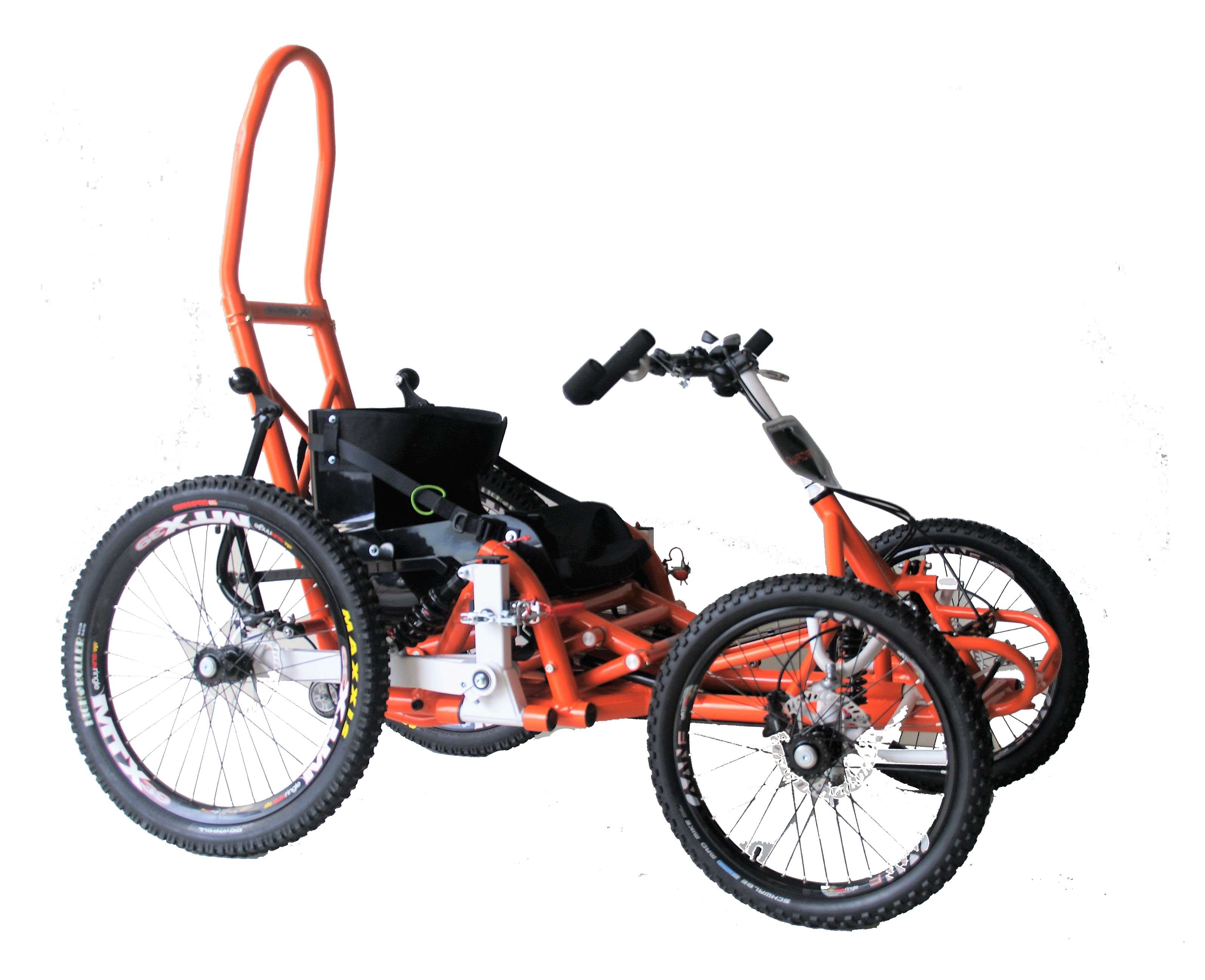 Quadrix Hands the all-terrain gravity wheelchair designed for ski slopes. Don't give up your favourite sport because of your SCI - Take a chair lift, a ski lift or a cable car and off you go, enjoy your freedom