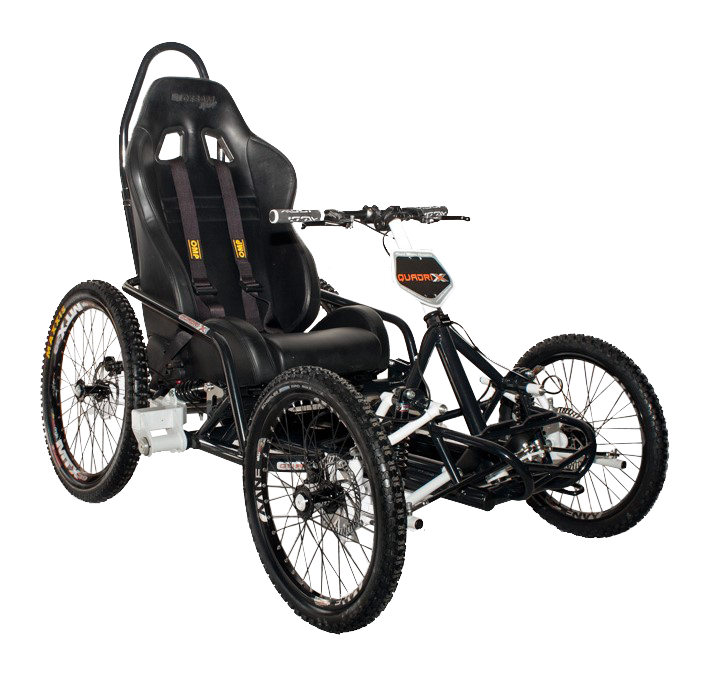 Quadrix IBEX is a versatile, sports-oriented, gravity all-terrain wheelchair ideal for energetic downhill riding and trekking