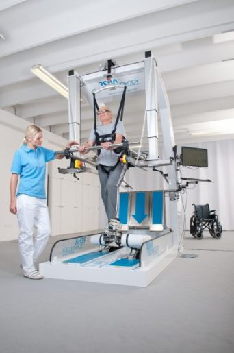 The Worlds Most Advanced Robotic-assisted Device in Gait Rehabilitation. It is the only device to offer the unique feature of realistically simulating climbing stairs and can be operated by a single therapist