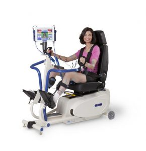 RT200 is a seated motorised FES elliptical, suitable for a wide range of patients. It's the only hybrid FES system that works arms and legs simultaneously. RT200 can be prescribed for home use to maintain continuity of care for patients who require long term therapy.