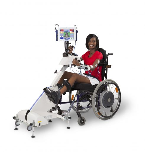 RT300 SLSA is a flexible leg and arm cycle system that can be used from a wheelchair, a chair, plinth or balance ball.