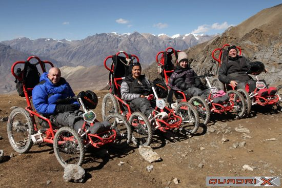 The IBEX is a light weight, accessible Quadrix model and was used in 2013 for the trek to the Annapurna region of Nepal; famous for its winding and stony mountain trails and beautiful views.