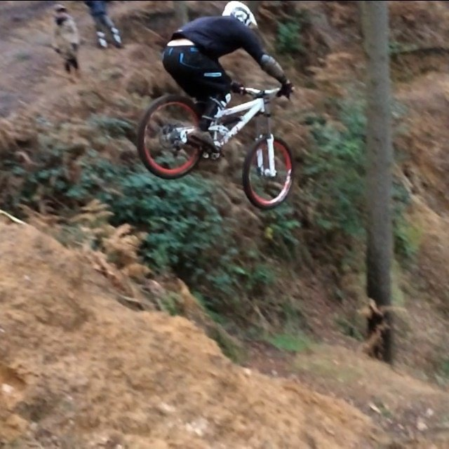 Alex toon mountain bike jump