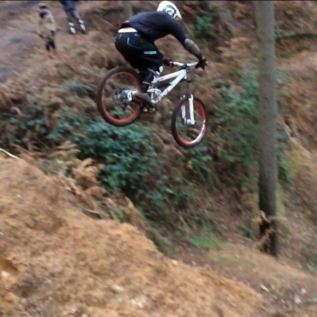 Alex toon mountain bike jump