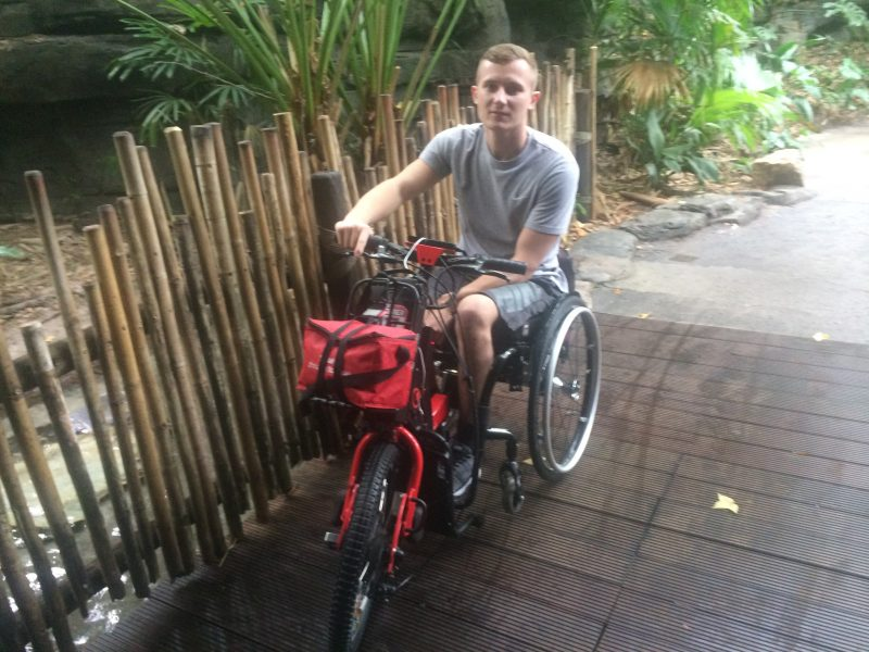 Alex with his Batec Electric in Florida