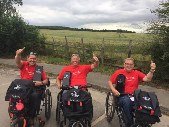 Peter Lau case study image showing Peter with Batec Trailblazers Yorkshire out on a ride