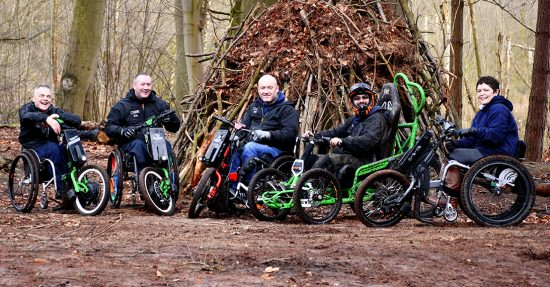 Cyclone team in delemere forrest