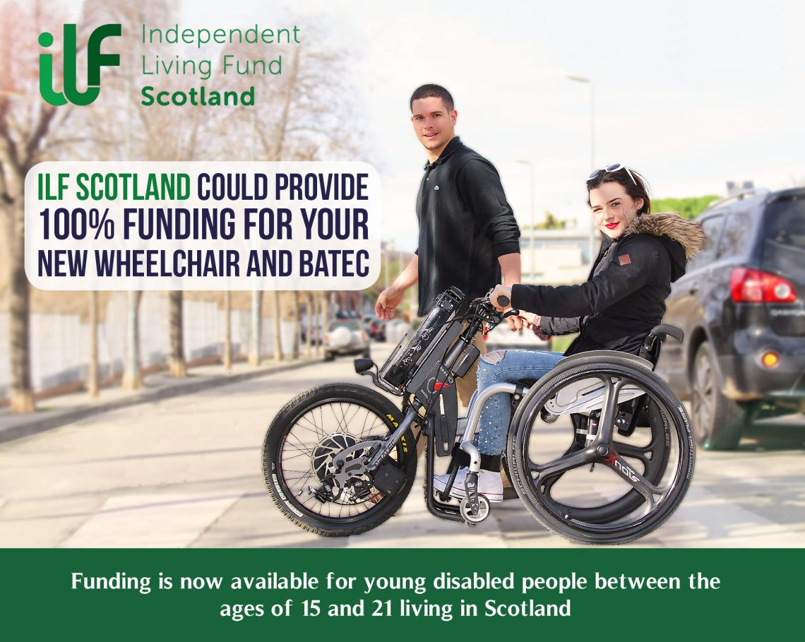 ILF Scotland fund advert and landing page image. Campaign promoting funding terms and conditions 2018