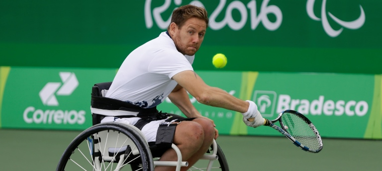 Busy year for wheelchair tennis star Antony Cotterill