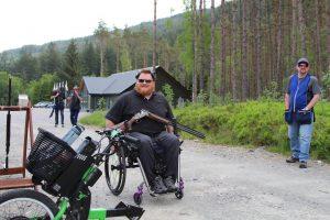 Allan Ritchie paralympian uses his Batec Rapid