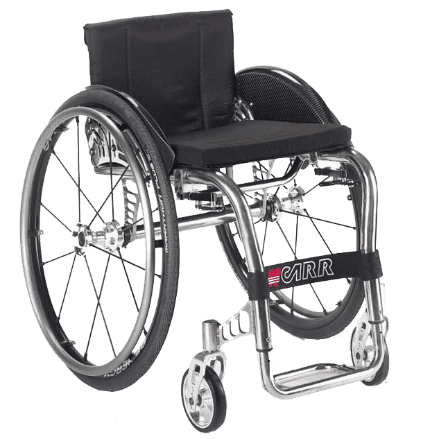 Offcarr Quasar is lightweight, flexible and agile. The Quasar's titanium frame weighs just 4kgs, it's one of the lightest wheelchairs in its range